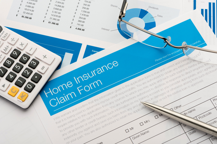 image of home insurance claim form